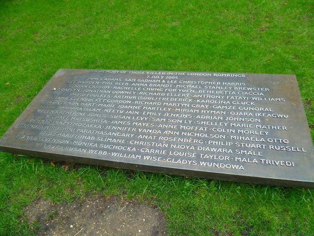 Memorial plaque in Hyde Park
