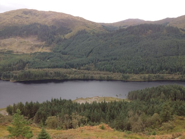 Forestry and view over Loch Doilean