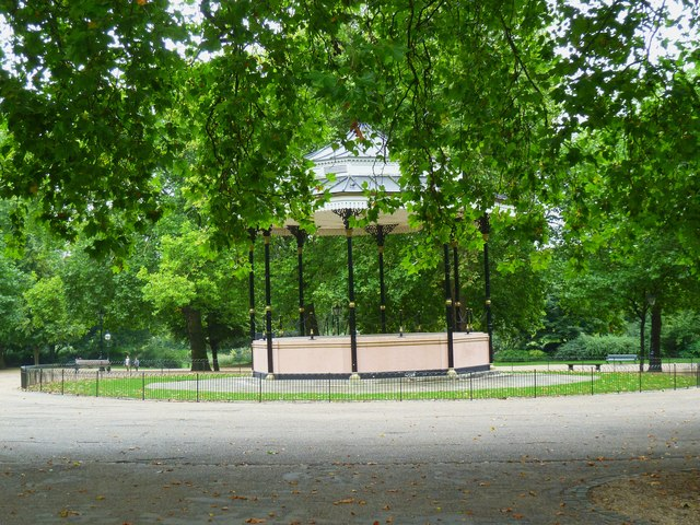 The bandstand in Hyde Park