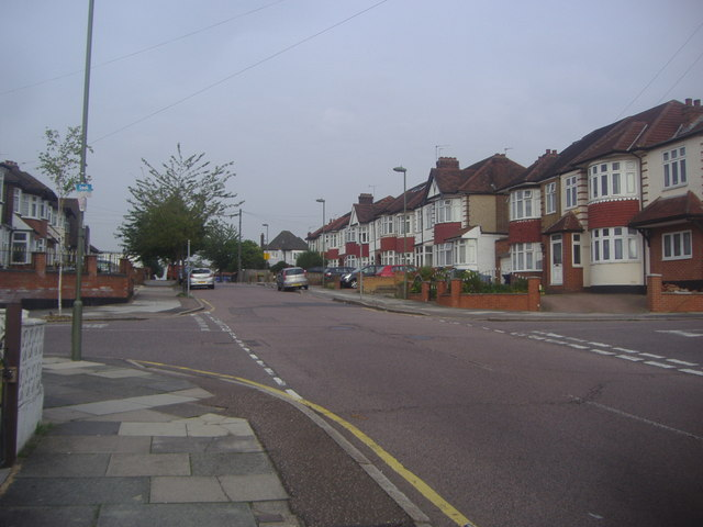 Chase Way at the junction of Cecil Road
