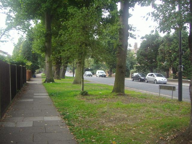 Pavement along Chase Side, Southgate