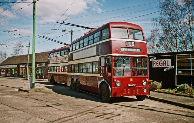 The Trolleybus Museum at Sandtoft - Two Reading trolleybuses 181 & 113, near Sandtoft, Lincs