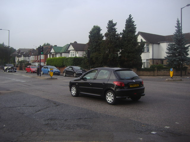 Chase Side at the junction of Osidge Lane