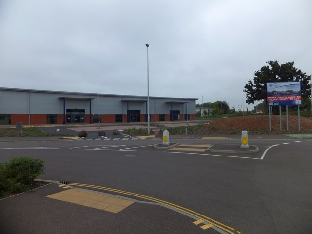 New retail units and their car park