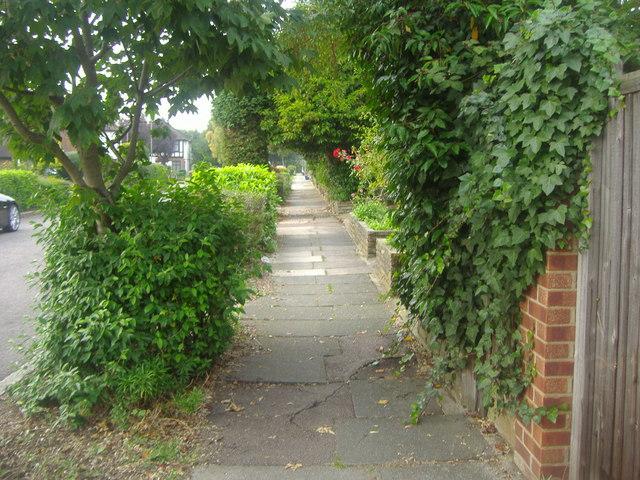 Pavement on Friars Walk, Southgate