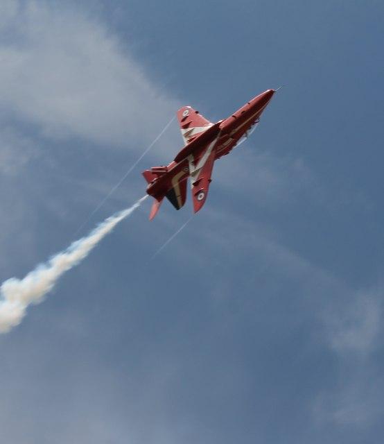 Red Arrow practising near RAF Scampton