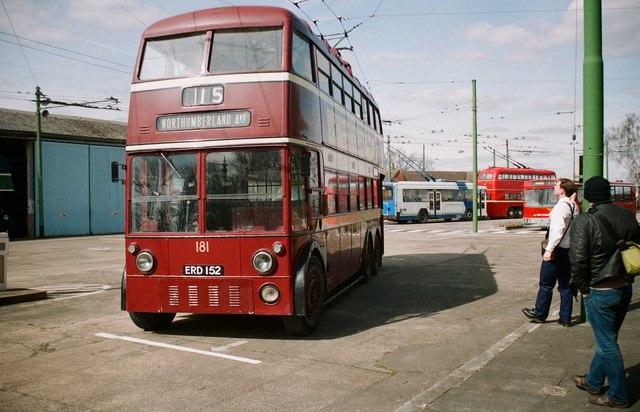 The Trolleybus Museum at Sandtoft - Reading trolleybus 181, near Sandtoft, Lincs