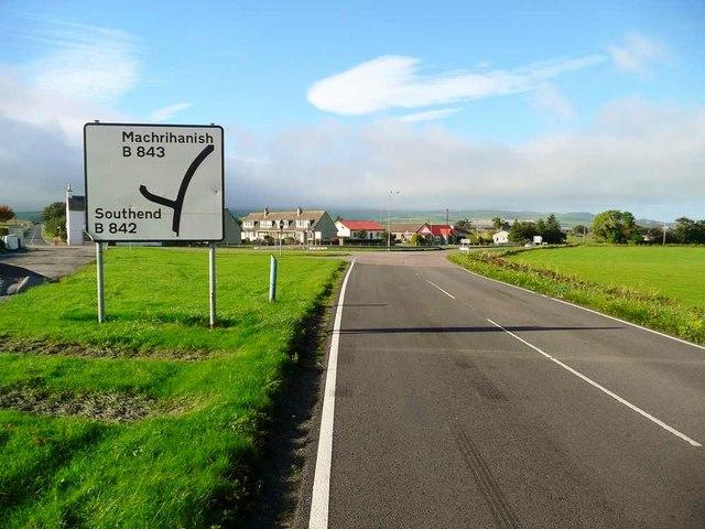 Road junction in Stewarton