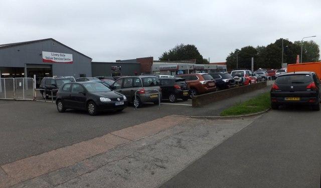 Car dealers, Grace Road West, Exeter