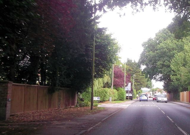 Bournemouth Road from Velmore Road