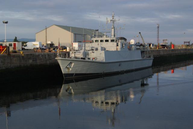 HMS Blyth at James Watt Dock