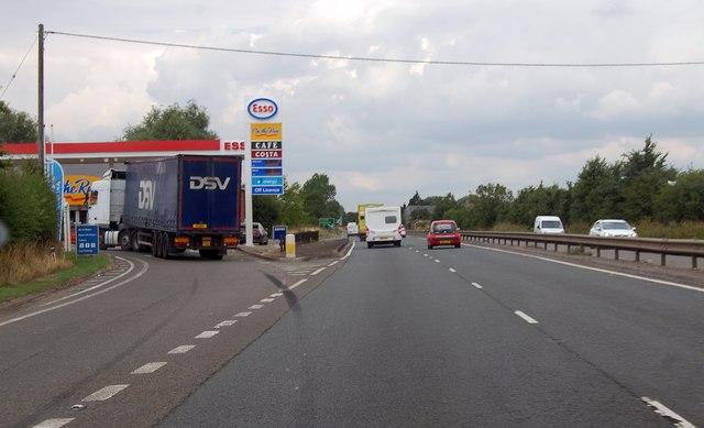 Esso filling station on A419