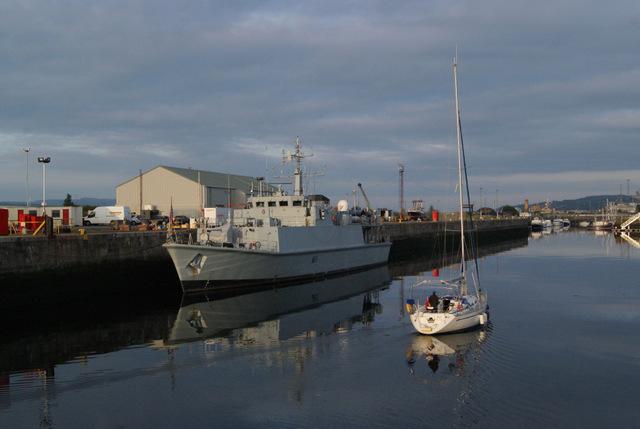 Yacht in James Watt Dock