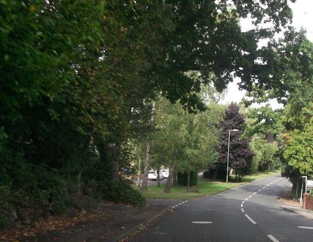 Hursley Road at Brownhill Road junction