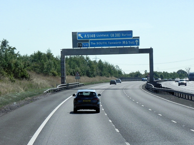 Sign Gantry Over M6 Toll Road