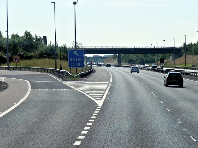 M6 Toll Road, Exit at Junction T5