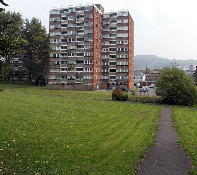 Multi-storey flats in Matthew Street Swansea