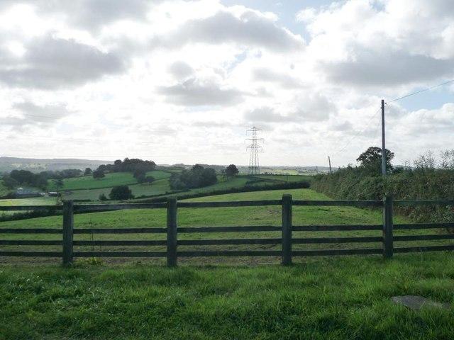 Farmland east of Tre-herbert Road