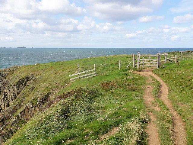The Coast Path by Penrhyn Dalar