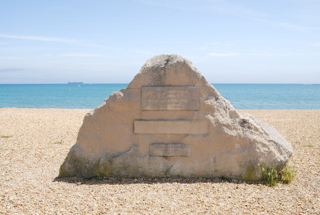 Stone on Weymouth Beach