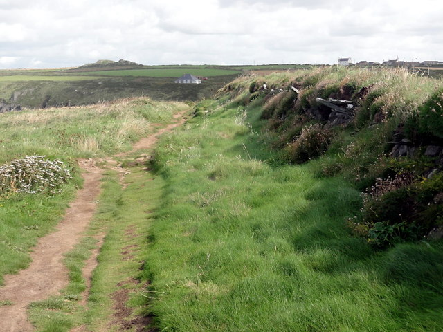 Coastal Path and Field Wall