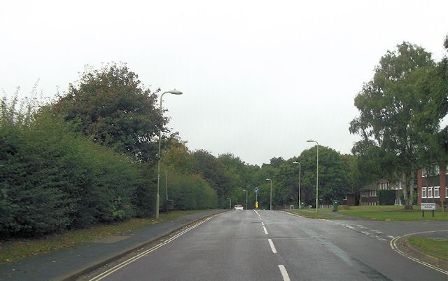 Ashdown Road entrance from Hiltingbury Road