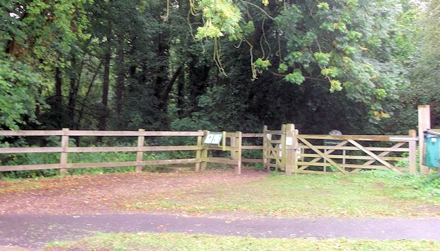 Hocombe Mead Nature Reserve entrance