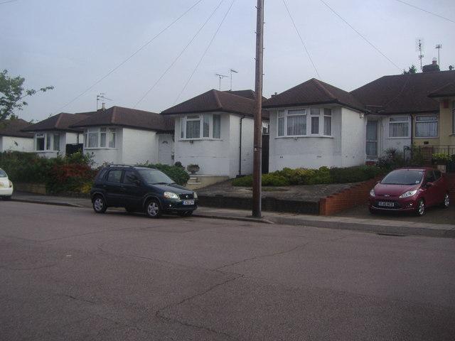 Bungalows on Derwent Avenue, East Barnet