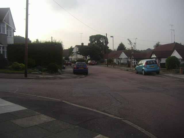 Haslemere Avenue at the junction of Hereford Avenue