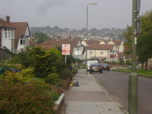 View from Russell Lane, East Barnet