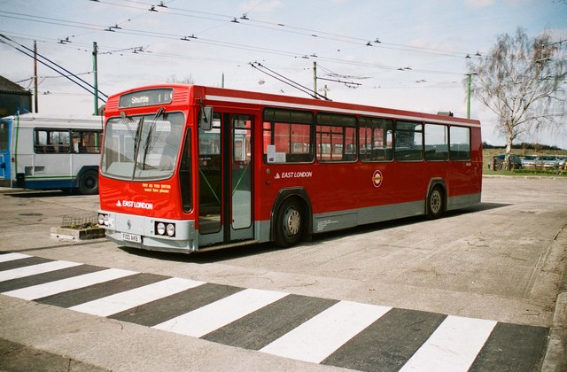 The Trolleybus Museum at Sandtoft - Renault PR100 bus, near Sandtoft, Lincs