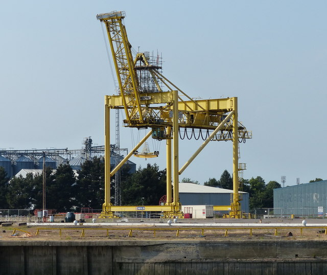 Crane at the Port of Boston