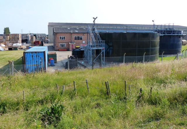 Storage tanks along The Haven (River Witham)