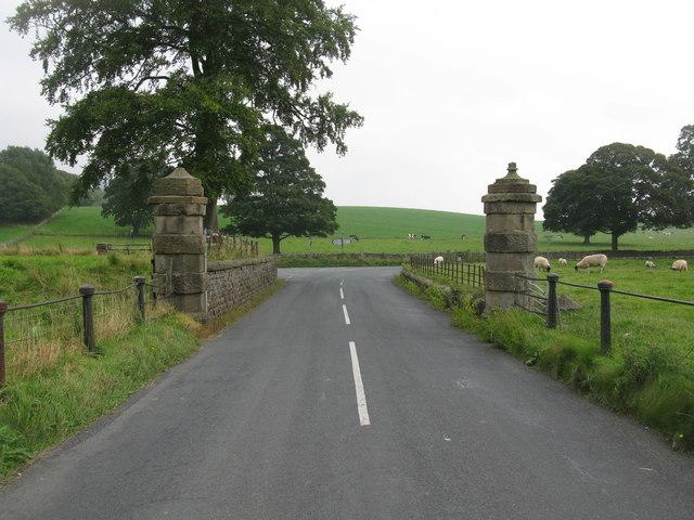Stone Pillars near Eshton Hall