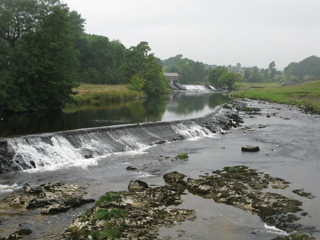 Weirs on the River Wharfe at Grassington