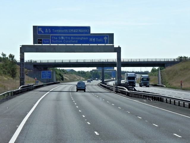 M6 Toll Road Near Shenstone