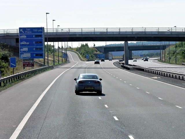 Approaching Junction T4, M6 Toll Road