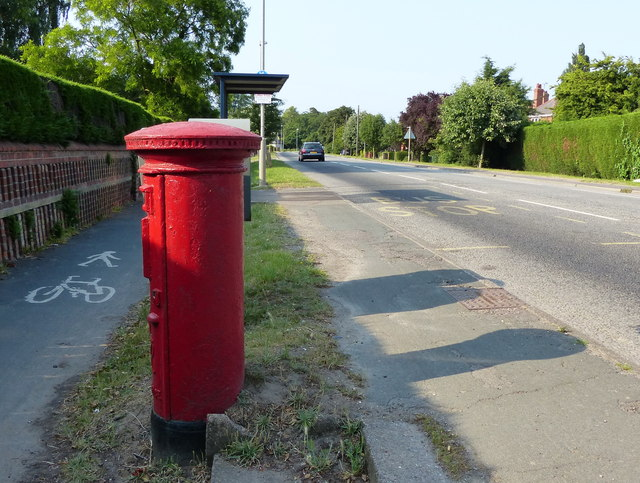 Post box along London Road