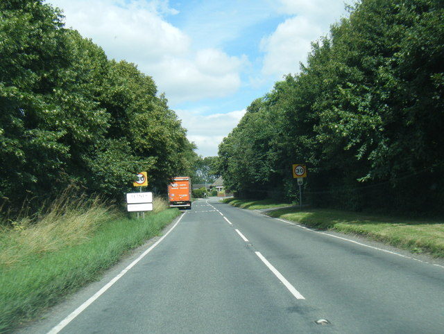 A1031 at Tetney village boundary