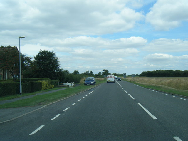 A1031 northbound leaving Tetney