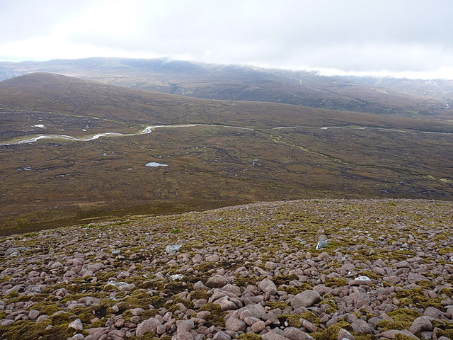 NNW from near the summit of Meall Tionail