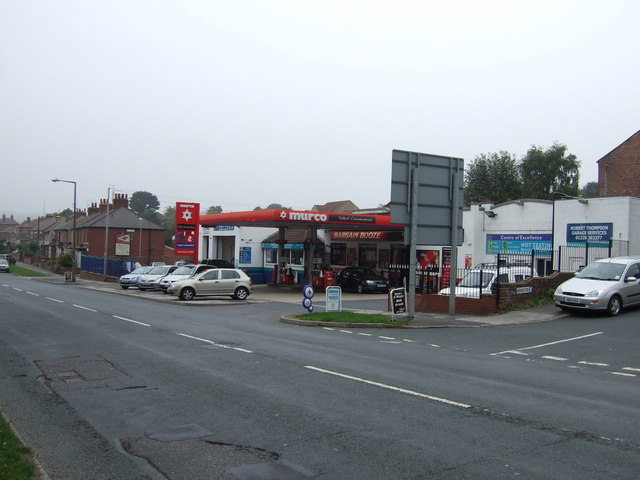 Service station on Barnsley Road, Darton