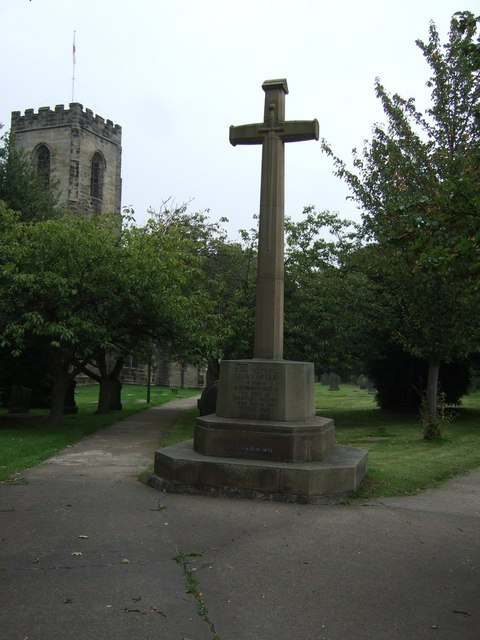 War Memorial, All Saints Church, Darton