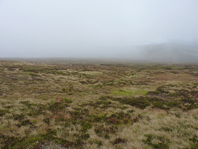 Downhill on the western side of Carn Greannach