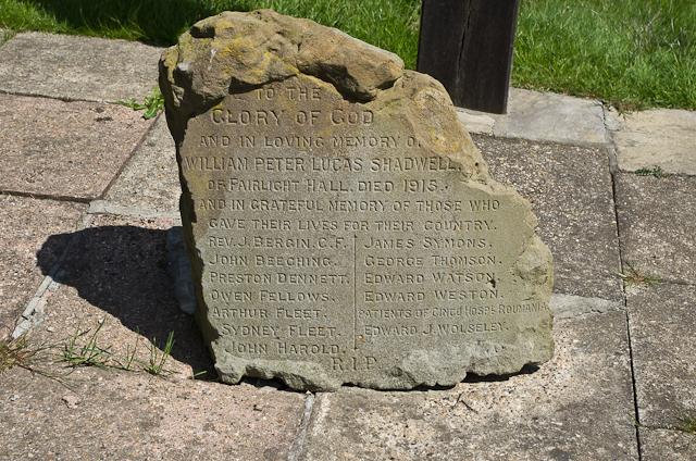 Memorial stone, Fairlight Churchyard