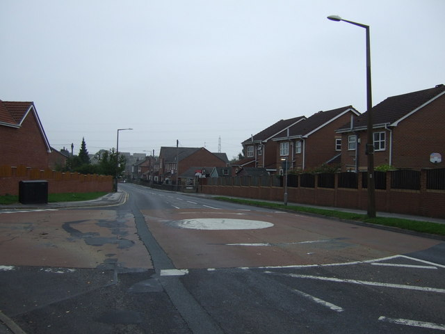 Roundabout on Blacker Road (B6131)