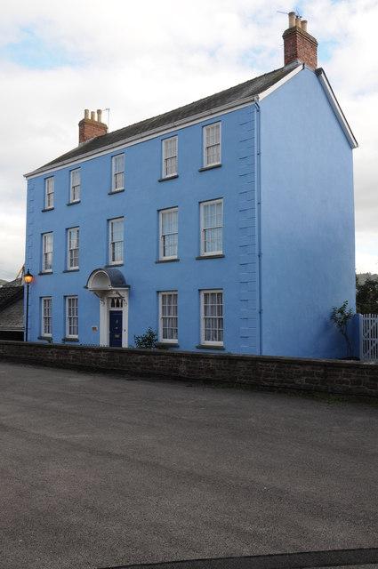 Blue Georgian house