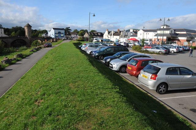 The Waitrose car park, Monmouth