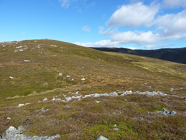 The ridge between Meall Glasail Mòr and Meall Glasail Beag
