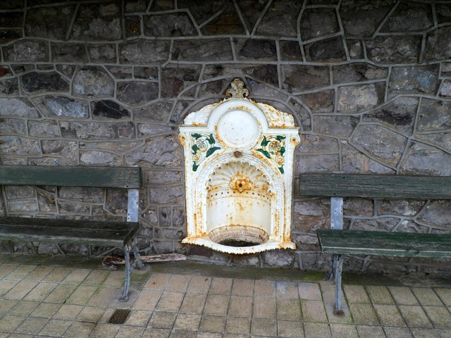 Disused Victorian drinking fountain in Porthcawl